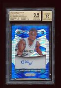 Bgs 9.5 Andrew Wiggins 2014 Panini Prizm Blue Refractor Auto Rc Jersey D 22/199