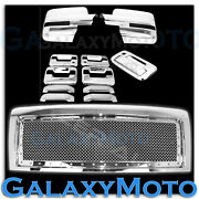 09-14 F150 Chrome Front Grille+mirror+4 Door Handle+2 Keyholes+tailgate Cover