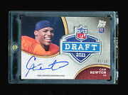 Cam Newton 2011 Topps Rookie Rising Nfl Draft Patch Auto Jersey Number Rc 1/10