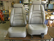 Nos 1994 - 1998 Ford Mustang Grey Leather Seat Covers - Seats 1995 1996 1997
