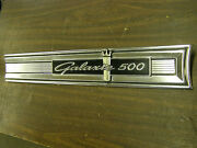Oem 1964 Ford Galaxie 500 Rear Trim Finish Panel Moulding Ornament