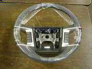 Nos Oem Ford 2008 Edge Steering Wheel Grey Leather + Wood 8a1z-3600-hb