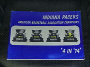 1973 1974 Indiana Pacers Aba Basketball Media Guide Ex-mint
