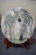 Vintage, Shapes of Clay Sculptured Zebra Image With Original Clay Stand