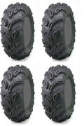 Four 4 Maxxis Zilla Atv Tires Set 2 Front 28x9-14 And 2 Rear 28x11-14
