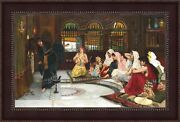 John William Waterhouse Consulting The Oracle Framed Canvas 41x27 V04-02