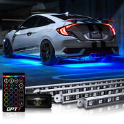 16 Color Car Truck Underglow Under Body Neon Accent Glow Led Lights Kit 4 Pieces