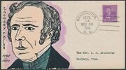 817 Mae Weigand Fdc Handpainted Cachet Zachary Taylor Bs1894