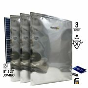 Faraday Cage Emp Esd Bags 3pc Jumbo 18x28 Thick 7mil Kit Huge Xxxl.......tested