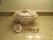 Lusterware T And R Boote Yosemite Soup Tureen 3 Piece Set C. 1883