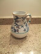 Minton Bamboo And Floral Jug With Woven Patter Circa 1855