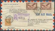 Canada C5 Pair On Hindenburg Cover Canada To Germany Hv9055