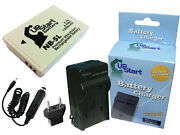 Battery +charger +car Plug +eu Adapter For Canon Powershot S100, Sd790, Sd890 Is