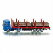 New Siku 1659 Blister Pack Man Truck With Forestry Trailer And Logs Diecast Model