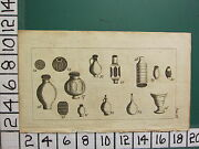 1785 Antique Print York Small Artifacts Pots Jugs Vases Archeology Antiquarian