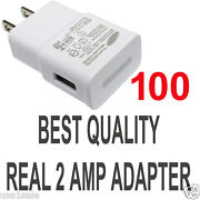 Lot 100 X2a Ac White Wall Power Charger Adapter For Samsung S5 S4 S3 S2 Note Ii