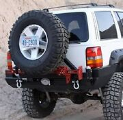 Rock Hard 4x4 Patriot Rear Bumper And Tire Carrier For 93-98 Jeep Grand Cherokee