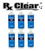 Rx Clear Swimming Pool And Spa Metal Out Chemical 1 Quart Bottle - 6 Pack