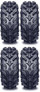 4 Interco Swamp Lite Atv Tires Set 2 Front 29.5x10-12 And 2 Rear 29.5x10-12