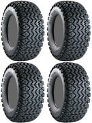 Four 4 Carlisle All Trail Atv Tires Set 2 Front 25x8-12 And 2 Rear 25x10.5-12 Itp
