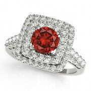 1.83 Cts Huge Red Natural Diamond Solitaire 14k Wg Valentineday Spl.sale Ring