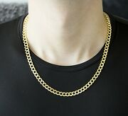 2.2mm 14k Solid Yellow Gold Cuban Link Women/ Menand039s Necklace Chain 7.5-24