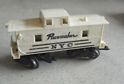 Vintage 1960s O Scale Marx White Nyc Pacemaker Caboose Car