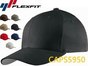 Yupoong Flexfit Wooly Combed Cap Baseball Hat Curved Bill Black Navy Red 6277