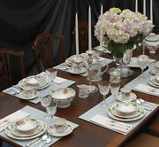 Villeroy And Boch Amapola Complete 12 Piece China Placesetting And Serving Pie