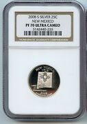 2008 S New Mexico Silver State Quarter Ngc Pf70 Ucam Proof Coin 25 Cent