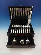 Golden Scroll By Gorham Sterling Silver Flatware Set For 12 Service 53 Pieces