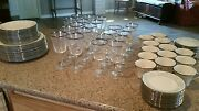 Lenox Windsong China And Solitaire Platinum Trim Goblets