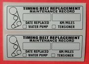 Qty 40 Timing Belt Water Pump Tensioner Replacement Sticker Decal 3x1 Erma755169