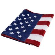 5and039x8and039 Ft American Flag Sewn Stripes Embroidered Stars Brass Grommets Usa Us U.s.