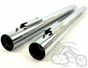 New Chrome Slip-on Ons Mufflers Exhaust 1995-2016 Harley Touring Dresser Bagger
