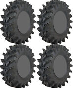 Four 4 Sti Outback Max Atv Tires Set 2 Front 28x10-14 And 2 Rear 28x10-14