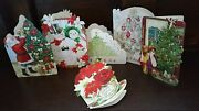 New Boxed Punch Studio Christmas Emb Note Cards Blank Inside 24 Ct Holiday Mix