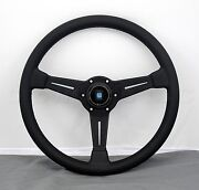 Nardi Classic Steering Wheel 360 Mm Black Perf. Leather Black Stitch Type A Horn