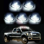 5x Smoke Roof Running Lights Cab Marker Cover+white 194 Led Bulbs For Ford 99-16