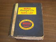 Oem 1962 1963 Dodge Chrysler Plymouth Dart Master Parts Book Imperial