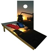Farming Cornhole Boards Beanbag Toss Game W Bags Country Farm Agriculture