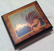 Reuge Musical Jewelry Box With Venician Woman Mask Inlay18nt Movement