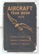 Aircraft Year Book 1929 Illustrated Aviation History Air Corps Fold-out Maps