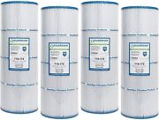 4 Pack Pool Filters Fit C-7483 Pleatco Pa81 Hayward Swimclear C3025 Cx580xre