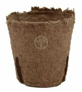 Jiffy 2 Inch Round Pots Peat Seed Starting Compostable 119 - Qty 100