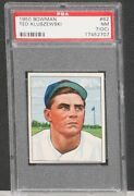 1950 Bowman Ted Kluzewski 62 Psa 7 Off-center. Great Color