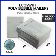 1-18000 0000 4x6 Ecoswift Small Poly Bubble Mailer Padded Envelope Bags 4 X 6