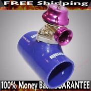 3 Blue Silicone Type S Adapter+type S Bov Fits Acura Bmw Toyota Mitsubishi