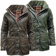 Womenand039s Premium Padded Antique Waxed Cotton Jacket