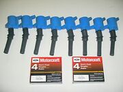 98-2011 Crown Vic Marquis Town C 8 Blue Coil Dg508 And 8 Motorcraft Plugs Sp493